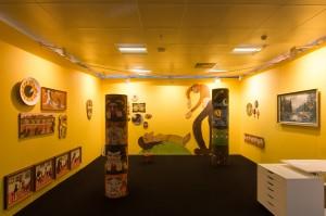 Booth installation image, Alison Erika Forde, solo presentation. Photo: Julian Lister