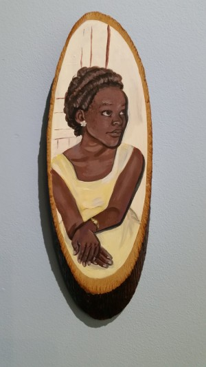 2015, Acrylic on found souvenir Courtesy the artist. Photo: Bury Art Museum