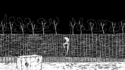Andrew McDonald, Fence / Hammock, 2016/7 animation still. Courtesy the artist